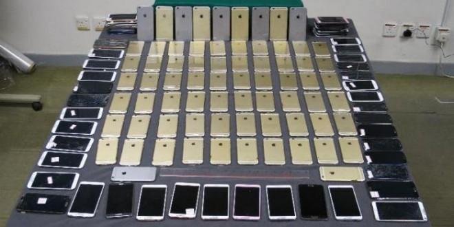 Hong Kong Customs seizes 71 iPhones