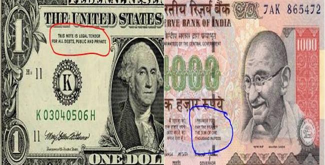 Indian Ru Devalues Against Us Dollar
