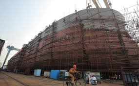 China shipbuilder goes bankrupt as industry slows