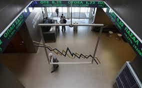 Greek stocks lower at closing of trade, lost 0.50%
