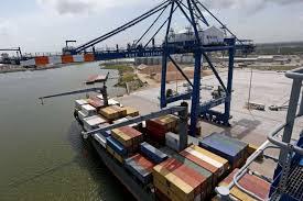 Shipping activity at Port Qasim on April 29