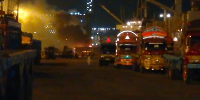 KPT starts probe into crane fire incident at port area