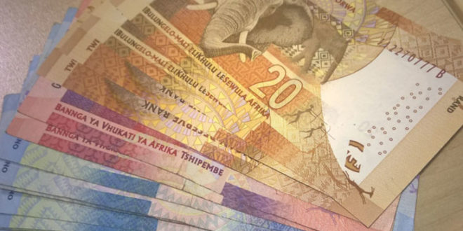 Rand dips below R14 vs the dollar
