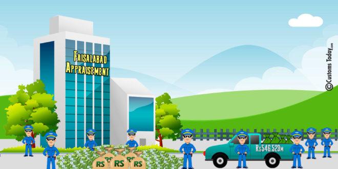 Faisalabad Appraisement collects Rs546.523m
