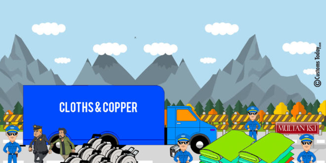 Multan I&I seizes non-duty paid cloths & copper