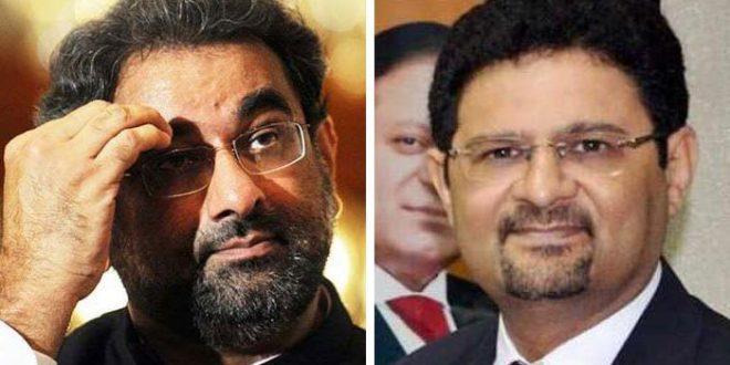 Govt places names of Shahid Khaqan Abbasi, Miftah Ismail on ECL