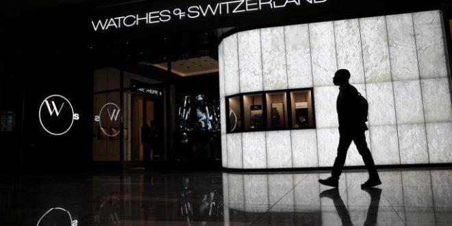 Flotation values Watches of Switzerland at £647m