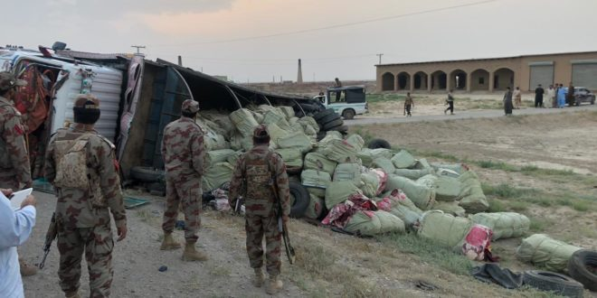 Quetta Customs confiscates smuggled goods near Sirana