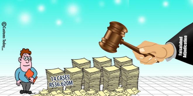 Faisalabad Adjudication decides 14 seizure cases worth Rs36.620m
