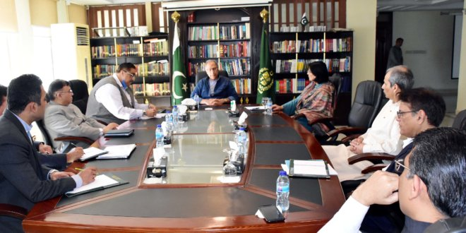 Hafeez Shaikh, Dr. Sania Nishtar discuss relief package