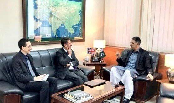Asad Umar welcomes UK's efforts to improve economic ties with Pakistan