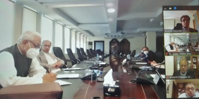 Hafeez Shaikh assures KCCI a relief budget
