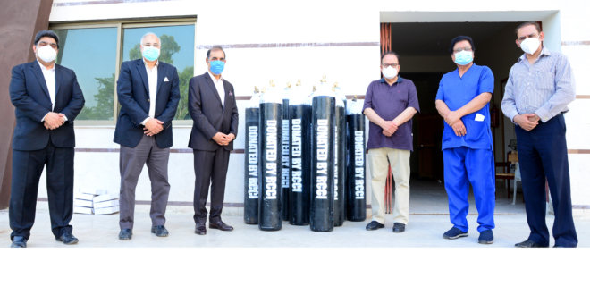 RCCI donates Oxygen cylinders to RIU
