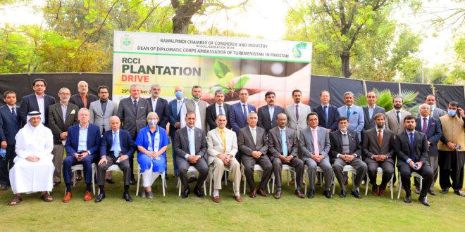 RCCI kicks off plantation drive under My Green Pakistan